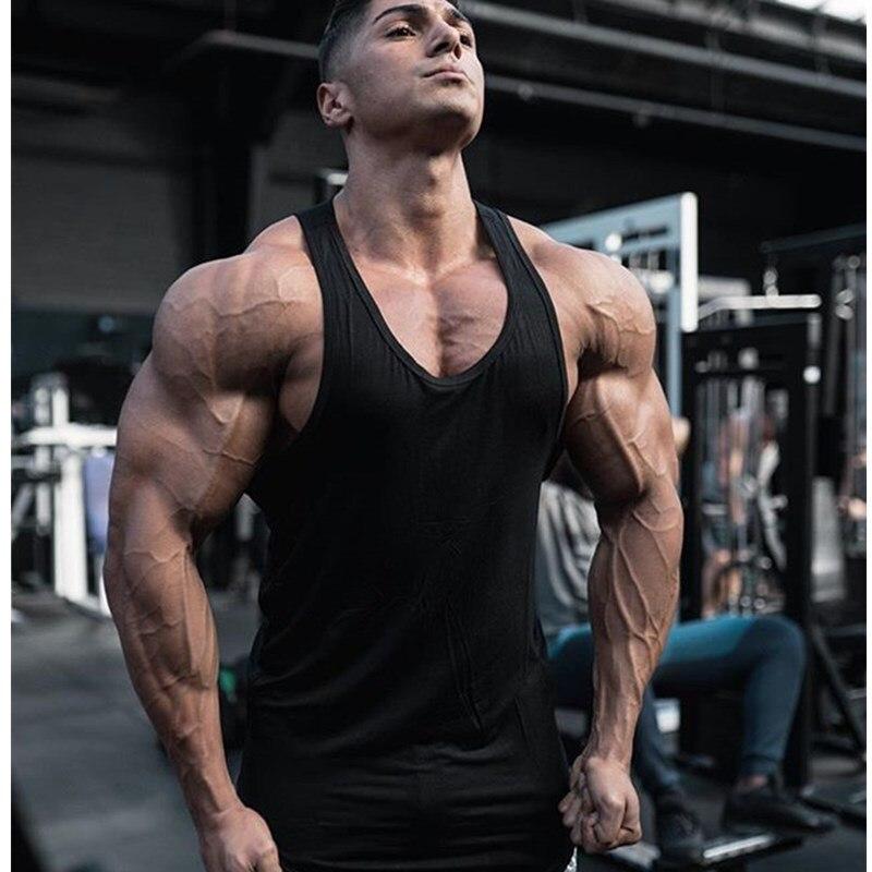 2019 new Brand Gyms Clothing Singlet Y Back   Tank     Top   Men Fitness Stringer Vest Bodybuilding Sleeveless shirt Muscle   Tank     top