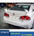 For Honda FD2 Civic Spoiler ABS Material Car Rear Wing Primer Color Rear Spoiler For Honda FD1 Civic Spoiler FD2 2006-2011