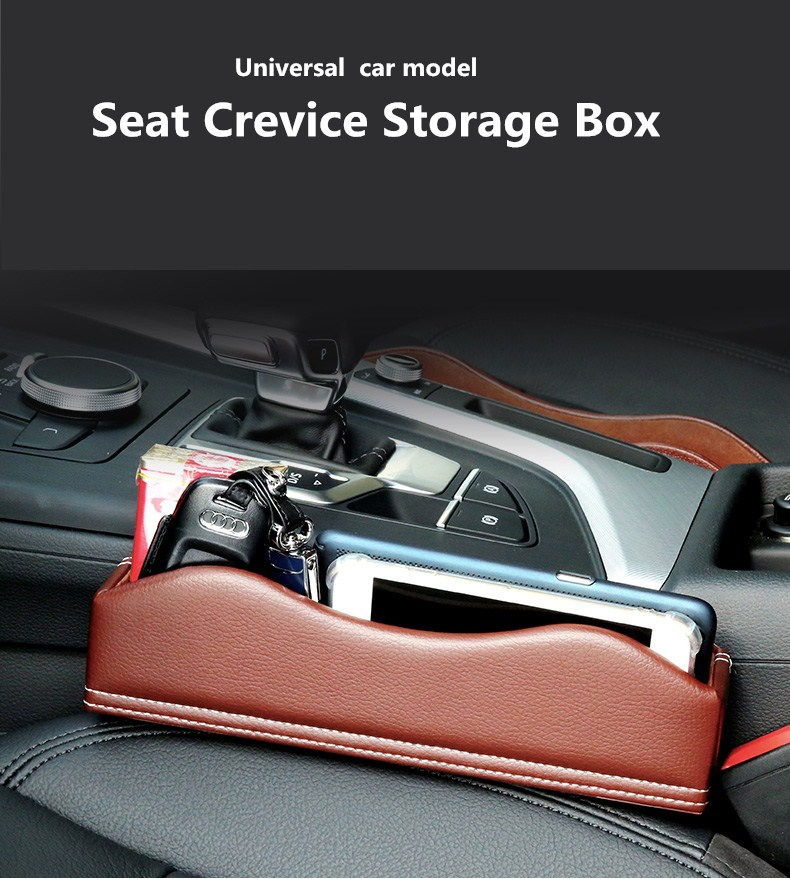 Anti Scratches Car Seat Crevice Leather Storage Box