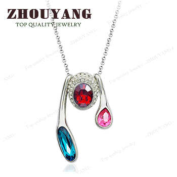 Zhouyang ZYN146 Bé Gái Màu Bạc Thời Trang Trang Sức Mặt Dây Chuyền Sản Xuất Với Đính Pha Lê Áo