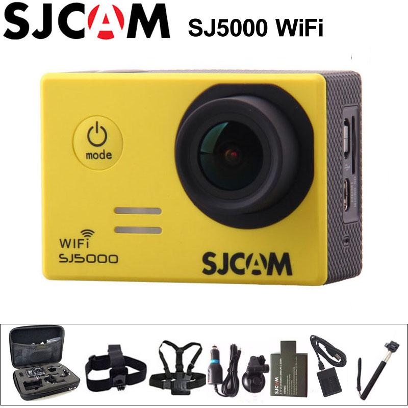 Prix pour D'origine sjcam sj5000 wifi action camera 1080 p full hd sport dv 2 pouce Écran 30 m Étanche SJ 5000 Cam Novatek 96655 Voiture DVR