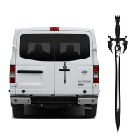 Free Shipping 1PC Sword Weapon Graphic Vinyl Sticker For NV Truck Rear Windows Door Glass Bed