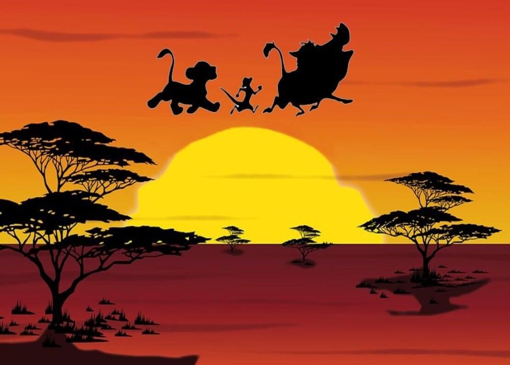 Us 1073 18 Off7x5ft Sunset Baby Lion King Simba Safari Grassland Custom Photo Studio Background Backdrop Vinyl 220cm X 150cm In Background From