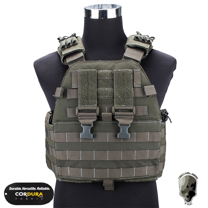 TMC EG Assault Plate Carrier Military Vest Body Armor Airsoft Wargame Molle Combat Gear Camouflage TMC1781
