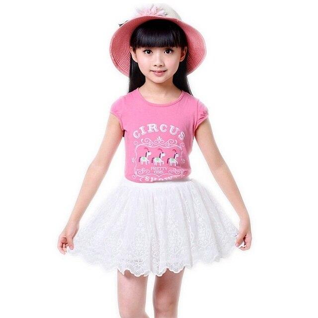 b01b359a9396 Baby Girls Tutu Skirt 3 7 Years White Fluffy Mini Skirt Summer ...