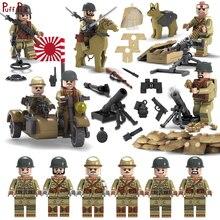 6 pcs Compatível Legoed Guerra Mundial Militar 2 SWAT Figura Arma ww2 Japonês Exército Marinha solider Building Blocks Crianças Arma brinquedo