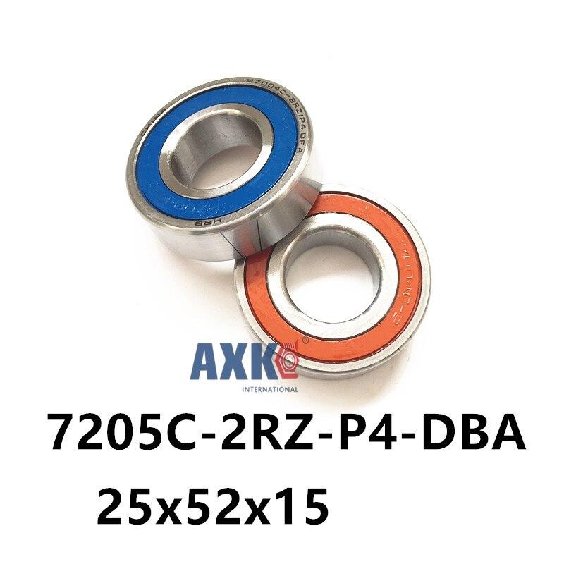 Rolamentos 1 Pair Axk 7205 7205c-2rz-p4-dba 25x52x15 Sealed Angular Contact Bearings Speed Spindle Cnc Abec 7 Engraving MachineRolamentos 1 Pair Axk 7205 7205c-2rz-p4-dba 25x52x15 Sealed Angular Contact Bearings Speed Spindle Cnc Abec 7 Engraving Machine
