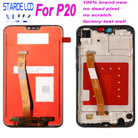 Starde LCD Screen Touch Screen Digitizer Assembly EML L29 L22 L09 AL00 for Huawei P20 LCD With Frame Replacement Parts+ Tools