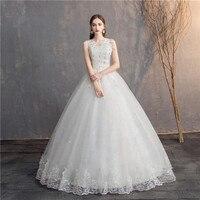 7e00a68a5 Do Dower Korean Style V Neck Lace Sleeveless Wedding Dress Ball Gown  Wedding Dress 2019 New. Fazer Dower Estilo Coreano V neck Lace Mangas Do  Vestido ...