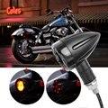 2016 2 PCS Universal 12 V Motocicleta LED Luz Traseira Frente Sinais de Volta Indicadores Âmbar Vermelho para Honda para Harley Luzes da motocicleta