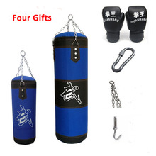 цена на Sandbag Fitness Gym Weight 10kg Boxing Punching Bag with Boxing gloves Accessories for Mma Training Muay Thai Equipamento