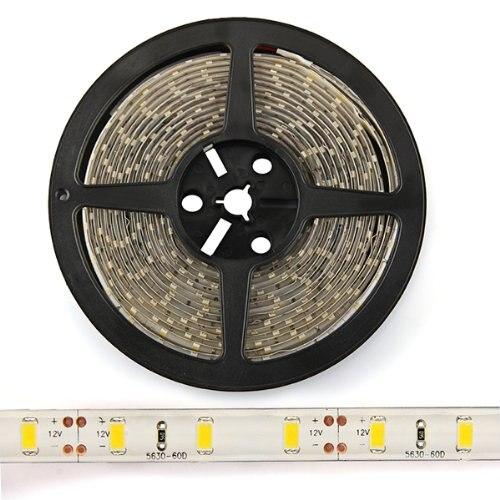 5 м теплый белый SMD 5630 Светодиодные ленты 300 шатер гибкий световой провод полоса Цвет переливающийся шнур