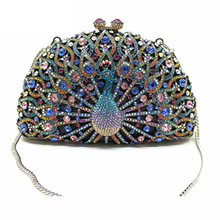 Crystal Clutch Golden Handbag Wedding-Clutches-Bag Hardcase Socialite Diamond Metal Bridal