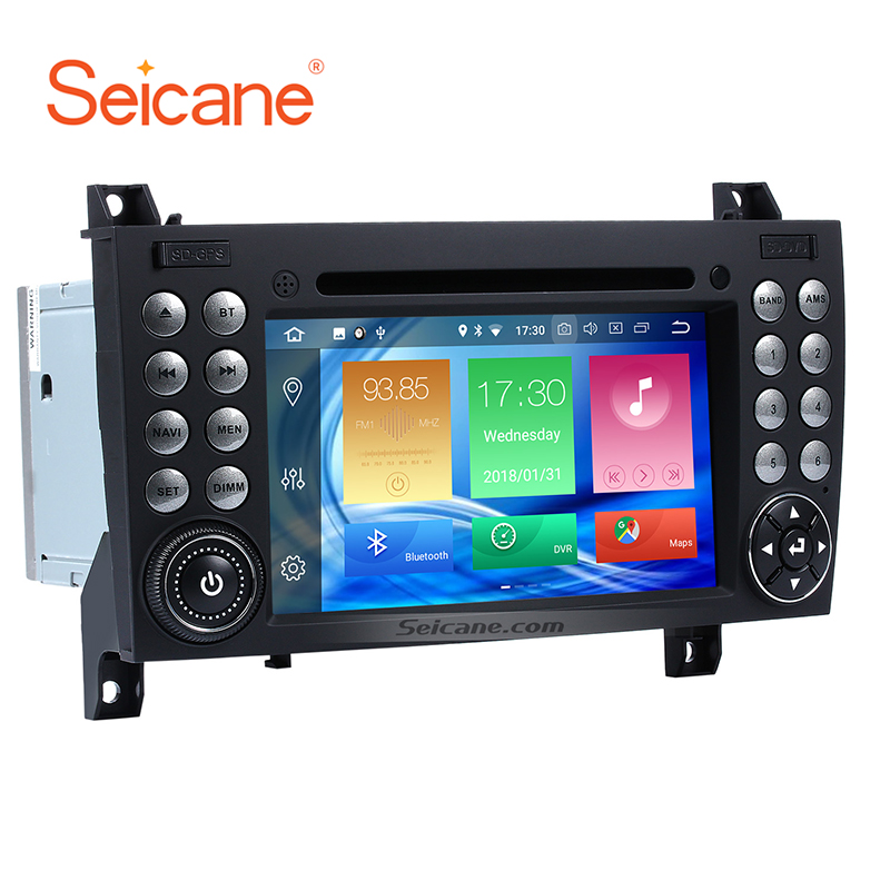 Seicane 2Din Android 8.0 7inch Car Radio Stereo GPS Multimedia Player For Mercedes BENZ SLK Class SLK200 SLK280 SLK350 SLK55 seicane car optical fiber decoder most box for 2004 2012 mercedes benz slk w171 r171 slk200 slk280 slk300 slk350 slk55 amplifier