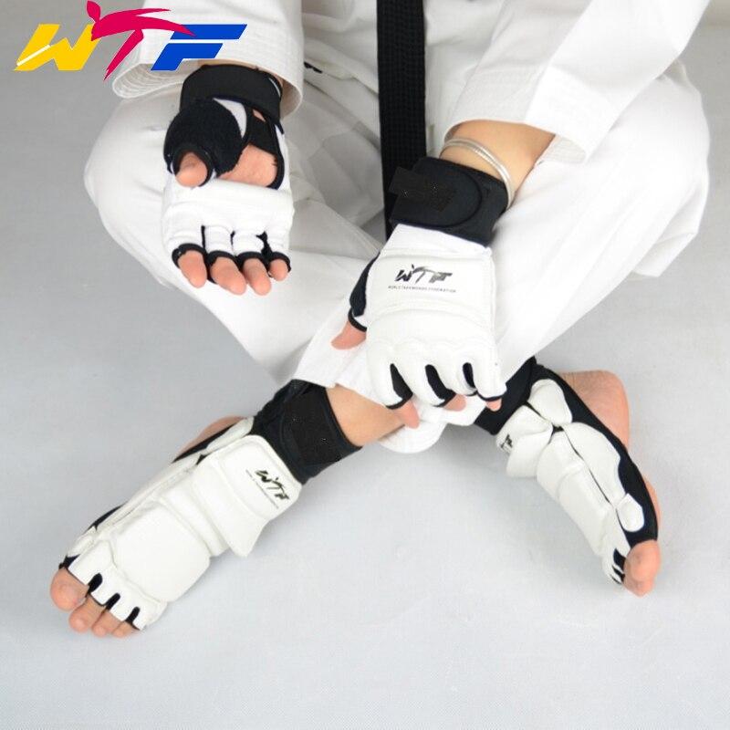 Guantes de protección para niños adultos Taekwondo pie Protector tobillo apoyo lucha pie guardia Kickboxing boot WTF aprobado Palma protección