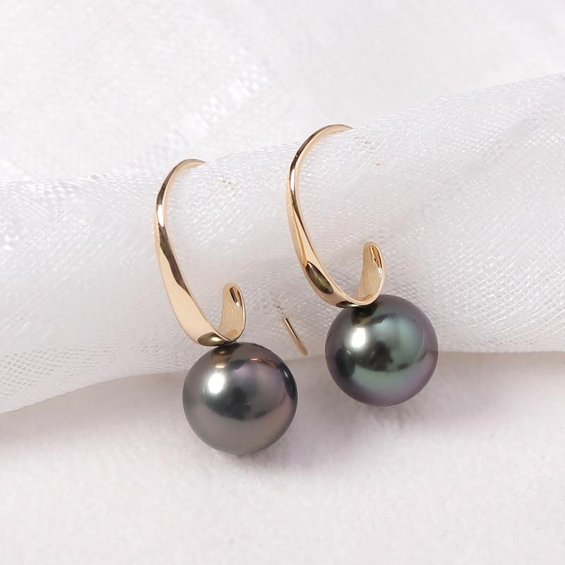 new 9-8 MM AAA white south sea pearl earrings 14K GOLD stud