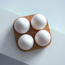 Japanese style Wooden Double Row Egg Storage Box Home Organizer Rack Eggs Holder Kitchen Decor Accessories