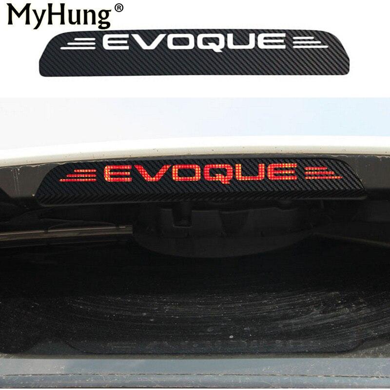 New Carbon Fiber Additonal Brake Light Sticker Decorative Cases For Land Rover Evoque Stop font b