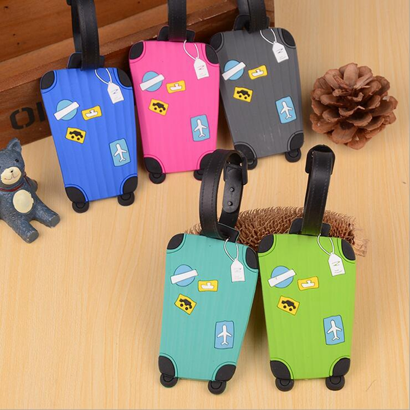 New Creative Cute Luggage Tag Travel Accessories Silica Gel Suitcase ID Address Holder Baggage Boarding Tags Portable Label wulekue rectangle aluminium alloy luggage tags travel accessories baggage name tags suitcase address label holder