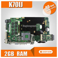 ل asus k70ij laptop motherboard ddr2 478 المقبس 2 جيجابايت ذاكرة اللوحة 100% اختبارها