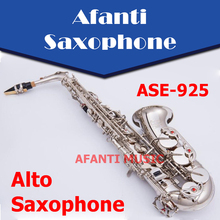 Afanti Music Eb tone /Brass Body/ Nickel Plated Alto Saxophone (ASE-925)