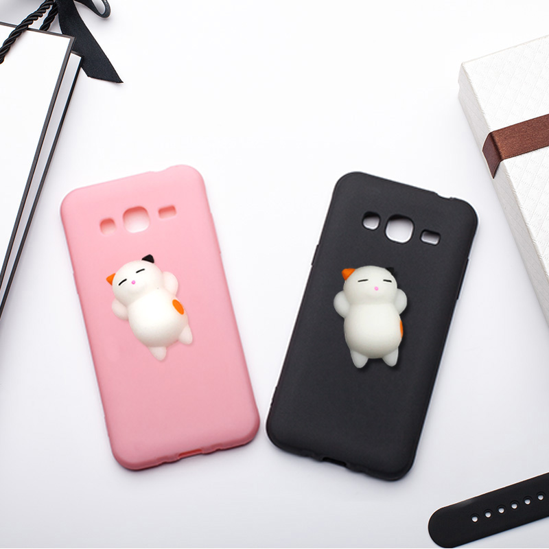 mrgo case for samsung galaxy j3 2016 case j5 2016 cover silicone cute clumsy cat squishy for