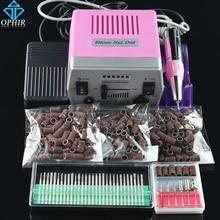 OPHIR Nail Tool Electric Nail Drill Machine Kit Acrylic Nail Art Drill Pedicure Manicure Machine 30 Drill Bits+300 Sanding Bands