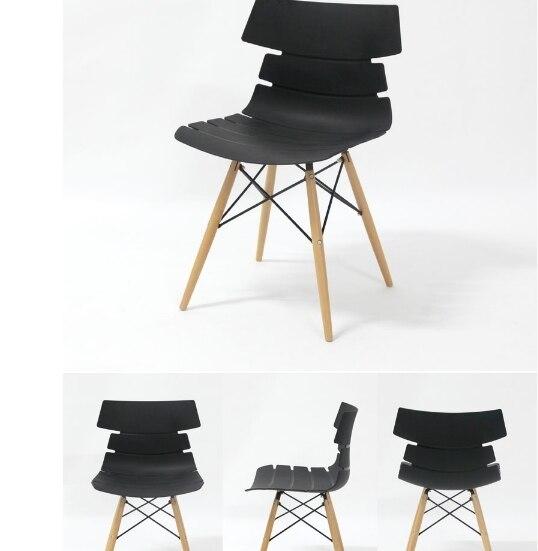 100% дерево и пластик стул, Белый, Синий, Обеденный стул, Гостиная мебель