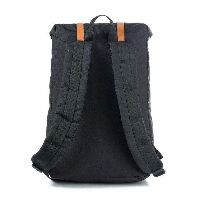 European American Style Backpacks Black Unisex Backpack Men Canvas Backpack Women School Backpacks Laptop Travel Bag 2