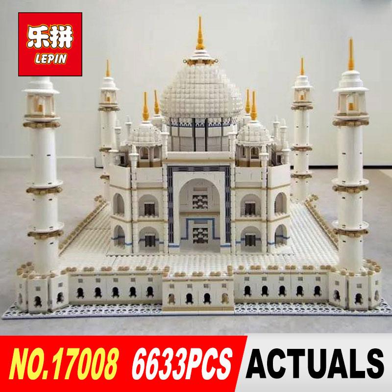 цена на LEPIN 17001 17008 6633Pcs The taj mahal Model Building Kits Brick classic house Architecture Toys for children 10189 Gift