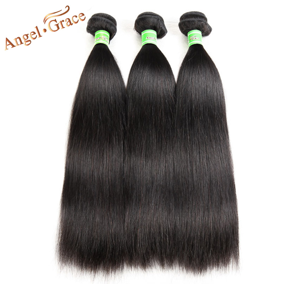 Angel Grace Hair Peruvian Straight Hair 3 Bundles 100g pc 100 Human Hair Extensions Deals Natural