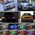 Горячий Продавать 42 RGB 5050 SMD Angel Eyes Супер Яркий СВЕТОДИОДНЫЙ Halo свет Фары Беспроводной Пульт Дистанционного Комплект Для BMW E36 E38 E39 E46 E43