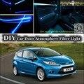 Комнатный светильник для Ford Fiesta/ST  волоконно-оптический ленточный светильник s  подсветка дверной панели  не EL светильник