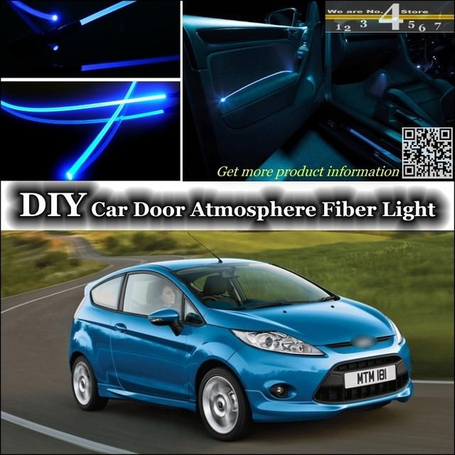 For Ford Fiesta / ST Interior Ambient Light Tuning Atmosphere Fiber Optic  Band Lights Door Panel