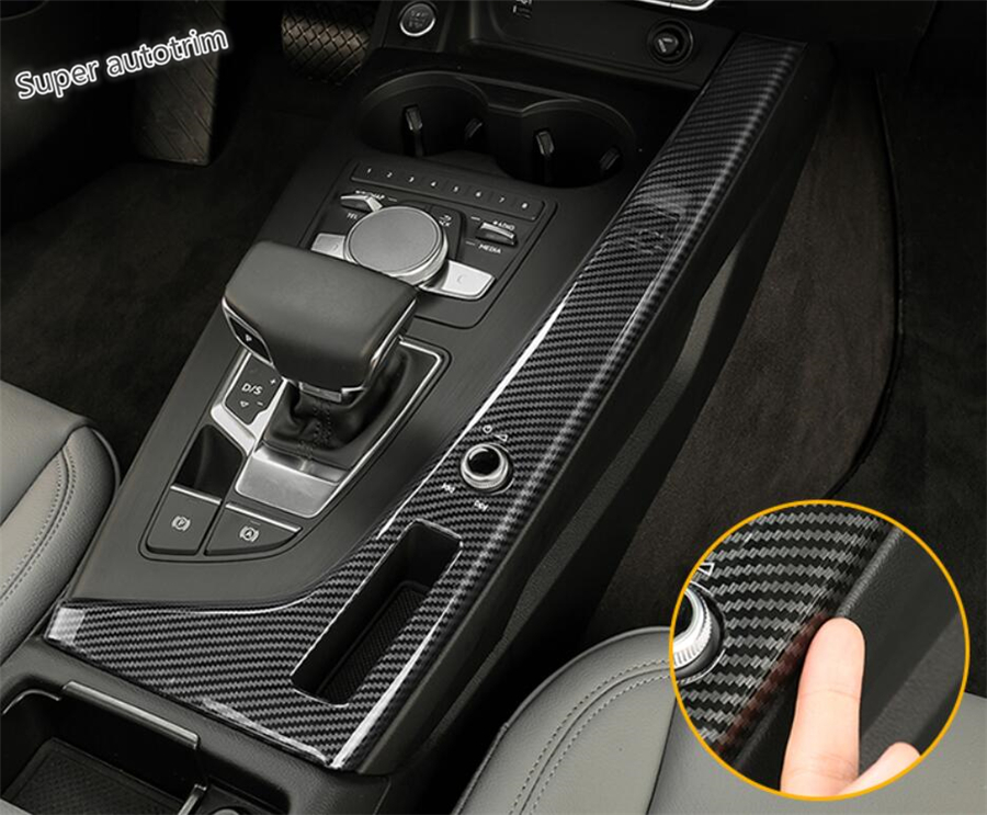 Lapetus Center Control Gear Shift Panel Cover Trim Stainless Steel For Audi A4 B9 Sedan / Avant / Allroad Quattro 2016 2017 2018