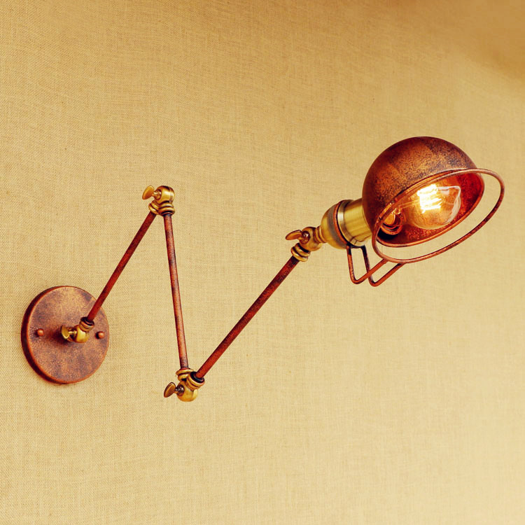 Antique Loft Vintage Wall Lamp With Swing Long Arm Light Industrial Wall Lights Fixtures Edison Wall Sconce Appliques Muralces недорого
