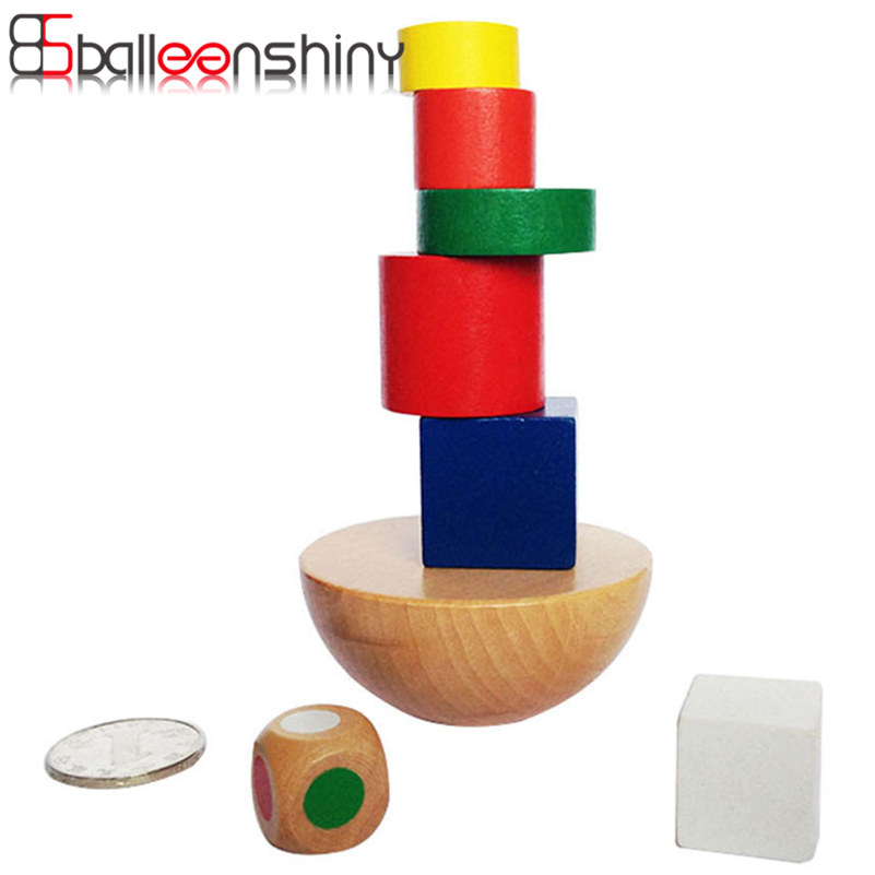 BalleenShiny Balance Game Educational Toy Wooden Hemisphere Stacking Baby Kids Children Intelligence Building Block Beads Toy kids children wooden block toy gift wooden colorful tree marble ball run track game children educational learning preschool toy