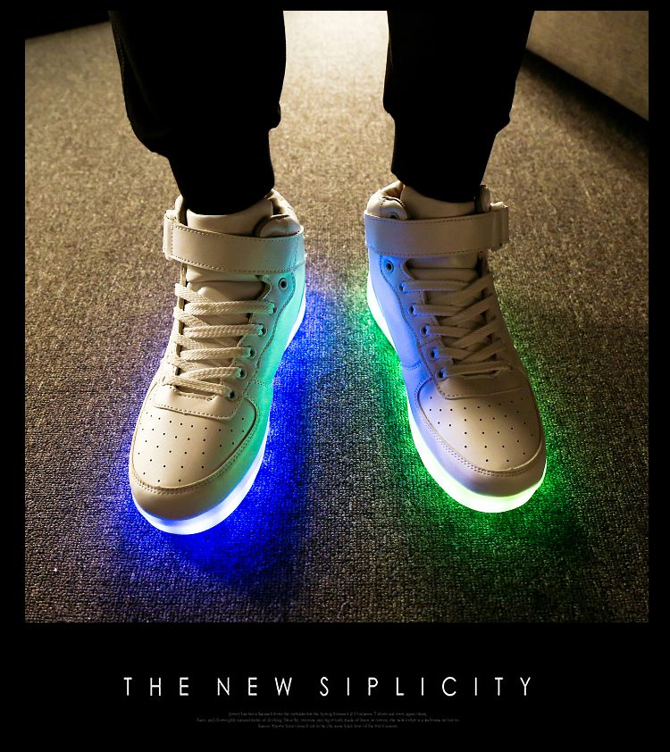 Classical Led Shoes For Kids And Adults Usb Chargering Light Up