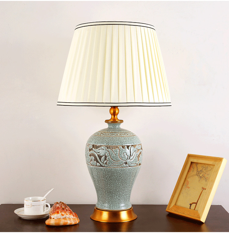 Us 256 0 Chinese Antique Blue And White Ceramic Table Lamp Desk Lamps Porcelain Table Lamp Jingdezhen For Living Room Modern Table Lamp In Table