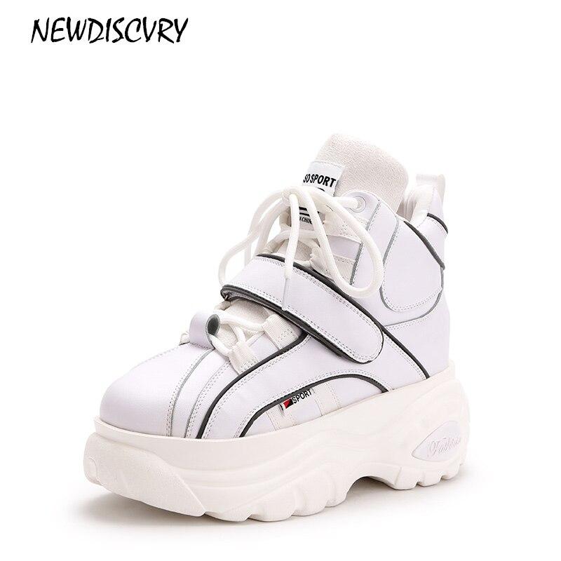 2018 Femmes sliver sliver forme 2 white black Newdiscvry Blanc 1 Casual 2 Marque Augmentation Dames Et 1 Black Plate Mode Chaussures Argent De Boucle Sneakers Crochet Femme 45ggcBX1R