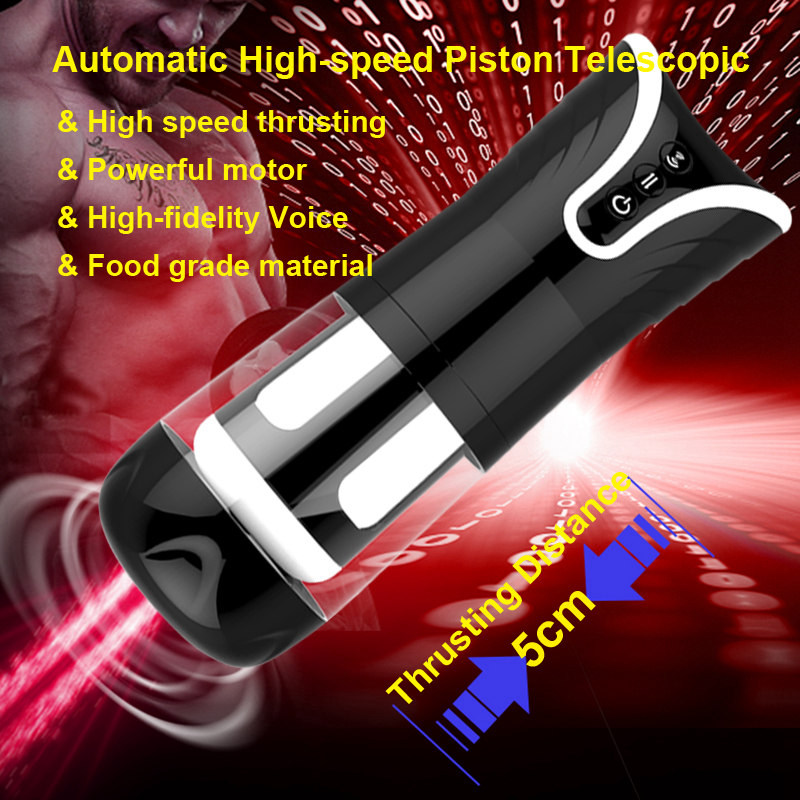 High Speed Retractable Male Masturbator Strong Piston Training Sex Machine High-fidelity Voice Interaction Sex Toys for Women easy love l male masturbator automatic sex machine hands free retractable masturbation cup piston telescopic sex toys for men