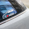 Car Window Trunk Die Cut Decal Self Adhesive for Mini Cooper  I LOVE My Mini Vinyl Sticker