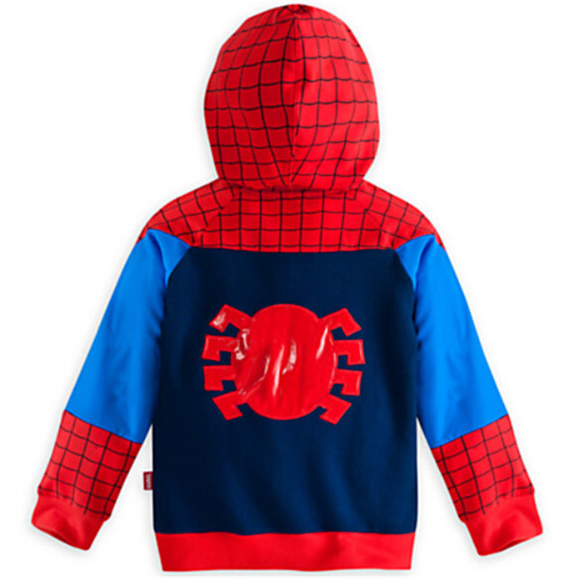 Retail 2019 Children Boys Outerwear Clothing Coats Spiderman Jacket Boy Hoodies Spider-man Coat Baby Kids Sweatshirts Fashion