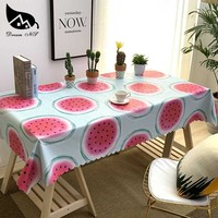 Dream NS Tablecloth Home Cotton Red Watermelon Fruit Color Simple Style Tablecloth Oil Proof Waterproof Home Beautiful