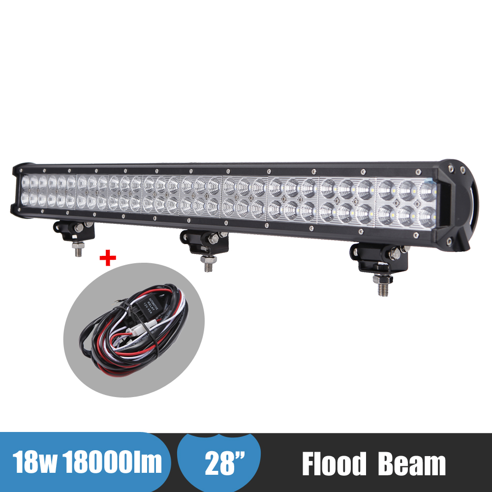 180W Off Road LED Bar 28Inch Flood Dual Row LED Work Light Bar ATV SUV UTV 4WD 4X4 AWD Boat Van Camper 12v 24v LED Driving Light