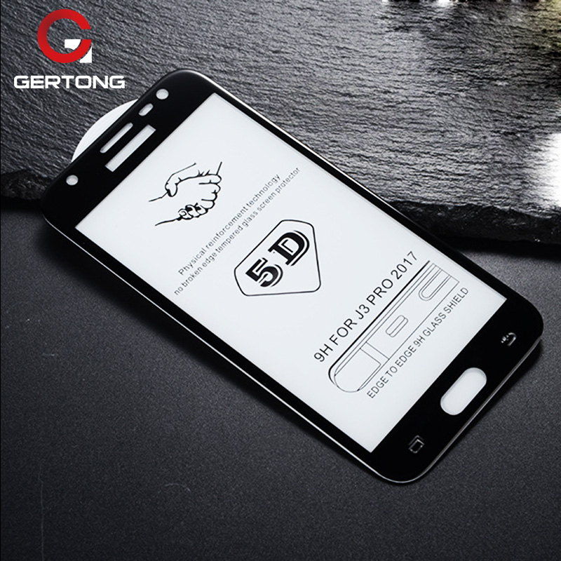 Full Cover 5D Tempered Glass For <font><b>Samsung</b></font> Galaxy A8 Plus 2018 A5 A7 <font><b>2017</b></font> J4 J8 A6 J6 M30 M20 M10 A10 Toughened <font><b>Screen</b></font> <font><b>Protector</b></font> image