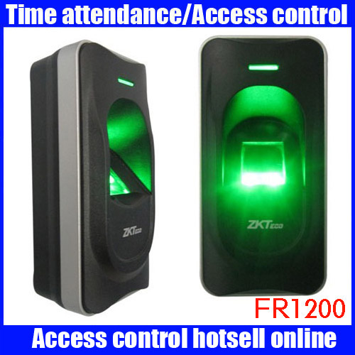 ZK FR1200 security device high waterproof machine Biometric Fingerprint Access Time Attendence access control system for Door цена