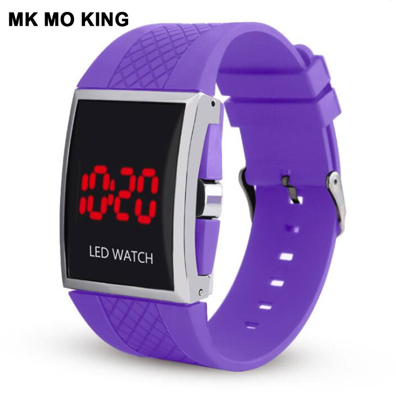 Button LED Digital Electronic Bracelet Analog Digital Military Sports Watch Casual Men's Women's Couple Watches Clock Reloj Muje