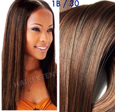 30inch 1b And 30 Mixed Piano Hair Color 50 Percent 1b