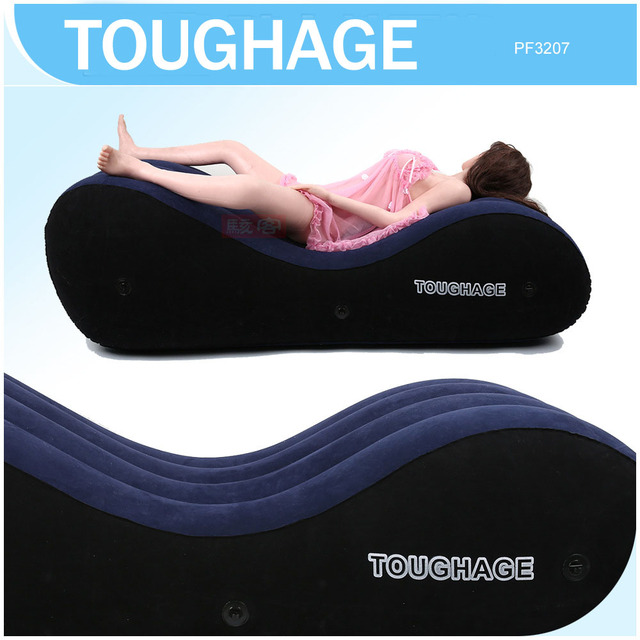 TOUGHAGE New S shaped inflatable sofa bed chair adult ...
